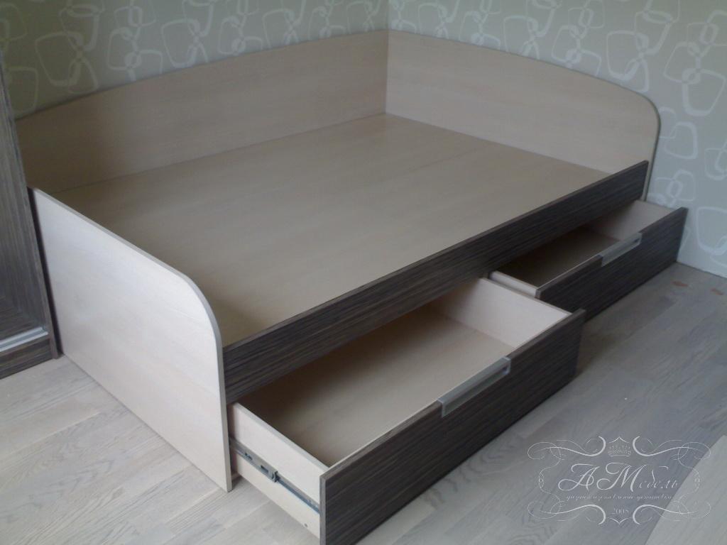 Как сделать кровать детская с ящиками
